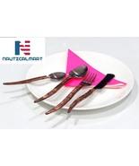 Al-Nurayn Modern Flatware Set With Stainless Steel Copper Cutlery Set Of 8 - $199.00