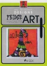 CLEARANCE Eek #4 Fridge Art Magnet cross stitch chart Amy Bruecken Designs - $6.00