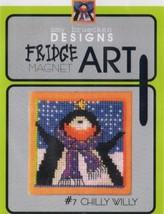CLEARANCE Chilly Willy #7 Fridge Art Magnet cross stitch  Amy Bruecken Designs - $6.00
