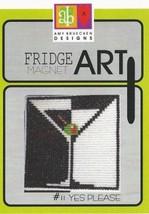 CLEARANCE Yes Please #11 Fridge Art Magnet cross stitch chart Amy Bruecken Desig - $6.00