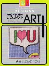 CLEARANCE I Love You #18 Fridge Art Magnet cross stitch Amy Bruecken Des... - $6.00