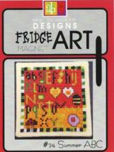 CLEARANCE Summer ABC #24 Fridge Art Magnet cross stitch Amy Bruecken Designs - $6.00
