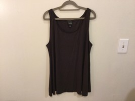 Eileen Fisher 100% Silk Dark Brown Tank Top Cami Sleeveless Blouse, size XL
