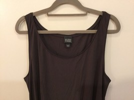 Eileen Fisher 100% Silk Dark Brown Tank Top Cami Sleeveless Blouse, size XL image 2