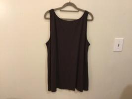 Eileen Fisher 100% Silk Dark Brown Tank Top Cami Sleeveless Blouse, size XL image 3