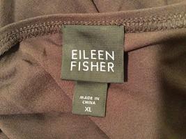 Eileen Fisher 100% Silk Dark Brown Tank Top Cami Sleeveless Blouse, size XL image 4