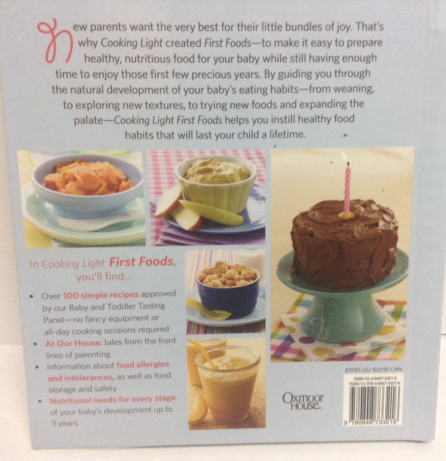 Baby's First Foods Recipe Book NEW ISBN 139780848733216