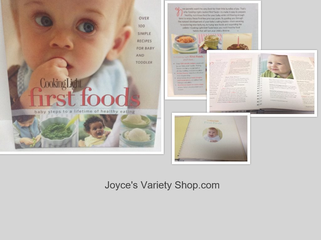 Baby s first foods book collage