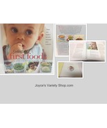 First Foods Book NEW Baby & Toddler Food Tips & Recipes Healthy Diet - $6.49