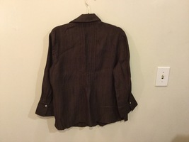 Coldwater Creek Petite Brown 3/4 Sleeve Blouse Buttons Up, size M petite (10-12) image 4