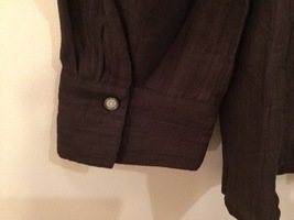 Coldwater Creek Petite Brown 3/4 Sleeve Blouse Buttons Up, size M petite (10-12) image 5