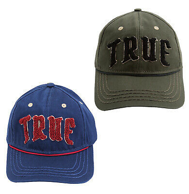 True Religion Men's Embroidered Chenille Logo Sports Hat Baseball Strapback Cap