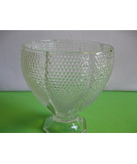 L E Smith Glass Crystal Dewpoint Bowl Pillow Footed Vase Made in USA Vin... - $54.99