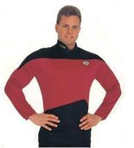 STAR TREK Next Gen SHIRT RED & Black SMALL  Item 15202 - $25.00
