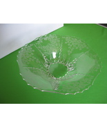 New Martinsville Glass Radiance Meadow Wreath Footed Etched Bowl Vintage... - $54.99