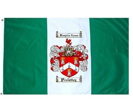 Preistley Coat of Arms Flag / Family Crest Flag - $29.99