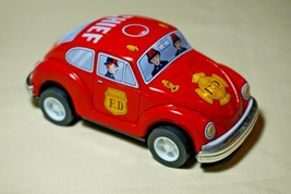 """Vintage Tin Toy New Japan Sanko Friction 5"""" Volkswagen Red Beetle Chief ... - $22.72"""