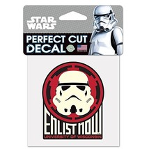 """NCAA University of Wisconsin 15544215 Perfect Cut Color Decal, 4"""" x 4"""", ... - $7.67"""