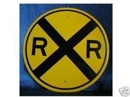 "New Reflective 12"" R.R. Crossing Sign - $8.91"
