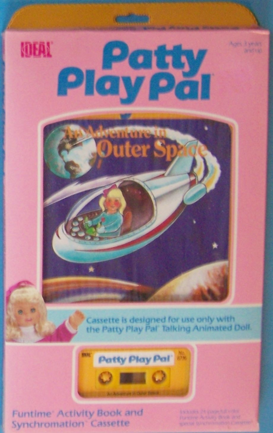 Primary image for 1987 IDEAL   PATTY PLAY PAL AN ADVENTURE INTO OUTER SPACE BOOK CASSETTE NRFP