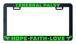 Cerebral palsy hope faith love license plate frame holder - $5.99