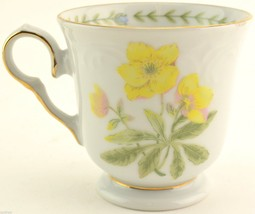 Tienshan China Floriade Pattern Footed Cup Replacement China Teacup Mug Dinner - $4.99
