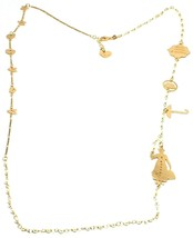 Long Necklace 29 1/2in, 925 Silver, Mary, Hat, Umbrella, Bag, le Favole - $180.38