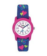 Timex Wrist Watch Kid Elastic Fabric Strap  Pink Analog Children Christm... - $22.98