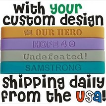 150 Custom Silicone Wristbands Bands FAST SHIPPING New Debossed Silicone bands - $102.47