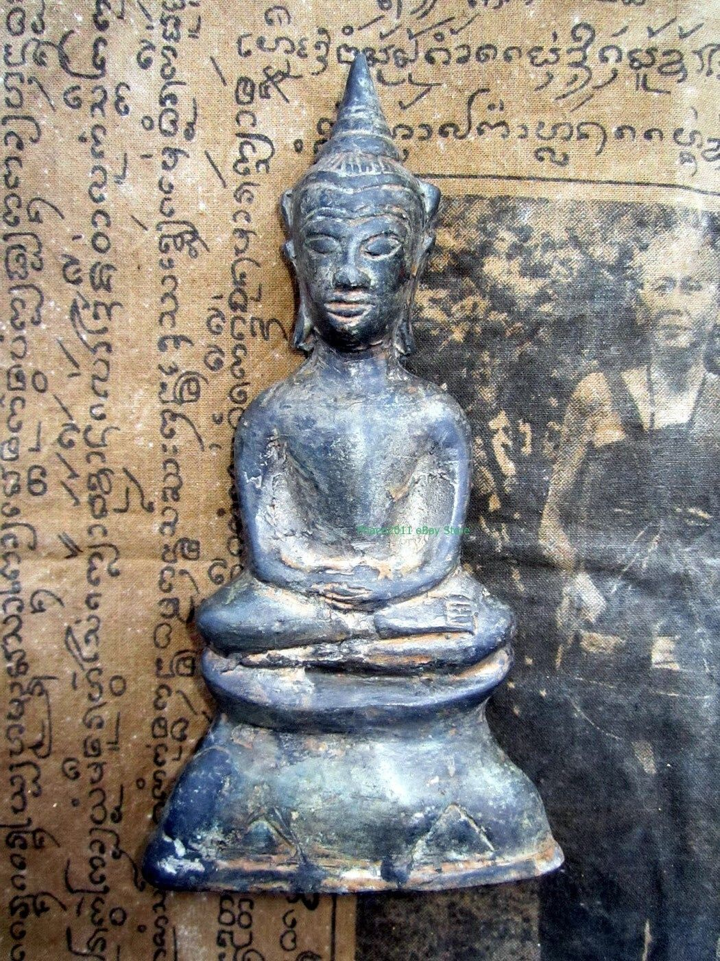 Primary image for LAST LEFT! Ancient Holy Phra Chai Khmer Ayuttaya Top Thai Buddha Amulets