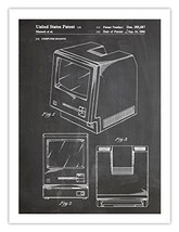 FIRST MAC COMPUTER POSTER BLACKBOARD 1986 US PATENT PRINT 18X24 APPLE MA... - $29.97
