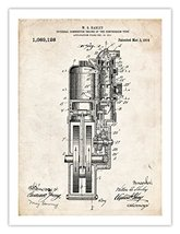 FIRST HARLEY MOTORCYCLE ENGINE INVENTION POSTER 1914 US PATENT PRINT 18X... - $24.97