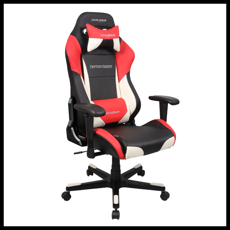 dxracer df61nwr pyramat gaming chair office chair esports black white and red chairs. Black Bedroom Furniture Sets. Home Design Ideas