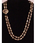 Vintage Double Strand Gold-tone Necklace nsigne... - $19.75