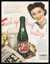 1945 Fresh Up with 7-Up Vintage Print Ad - $14.20