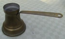 Brass Coffee Pot Kettle Ladle Long Handle Brass Pour Spout Signed        - $12.38
