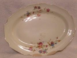 Old Vintage China Rose Pattern Large Serving Platter - $19.79