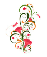 2 Abstract Floral Design Graphic-Digital clipart.  - $3.00