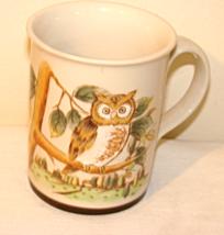 Vintage Otagiri Japan Textured Owl in Tree Mug - $17.50
