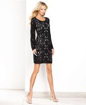 INC International Concepts  Dress Bell Sleevele Crochet Bodycon black PP... - $54.99
