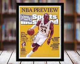 Kobe Bryant Sports Illustrated Autograph Replica Print - NBA Preview - L... - $36.99