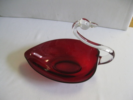 Duncan Miller Glass Pall Mall Ruby Red w Crysta... - $49.99