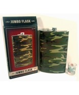 NEW IN BOX LARGE JUMBO FLASK CAMO STAINLESS STEEL 1.8 L. / 60 OZ. - $14.96