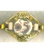 English Porcelain Gold Wire Wrap Bracelet 13 - $37.98