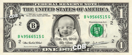 NEW BABY Custom REAL Dollar Bills - Personalized Money w/ ur Picture & N... - $8.88