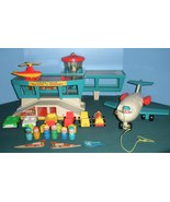 Vintage Fisher Price Play Family #996 Airport Complete/EXC! (O) - $180.00