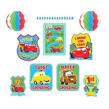 Disney Cars Pixar Movie Cute Kids First 1st Birthday Party Room Decorating Kit - $20.69