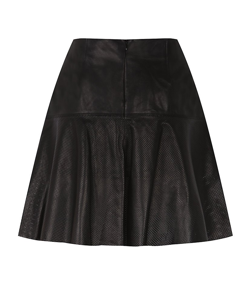425024d5c4 Vince Black Perforated Leather Skirt and 50 similar items