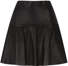 Vince Black Perforated Leather Skirt - $59.97