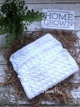 Handmade Kitchen Crochet Dish Cloths Crochet White Washcloth Dishcloth S... - $18.75
